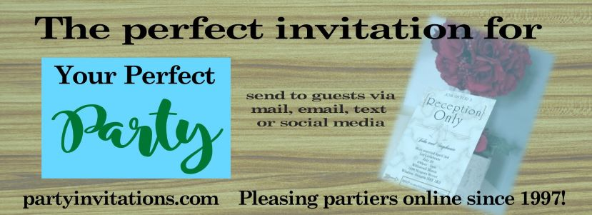 Second slide party invitations