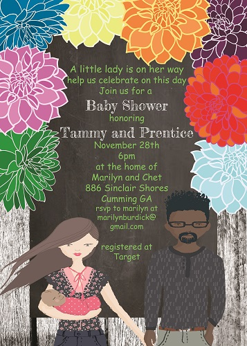 African American Baby Shower invitations NEW selections Summer 2018