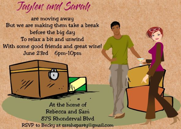 just like us series interracial moving card farewell party invitation