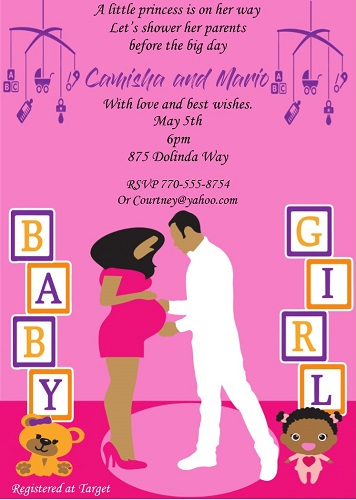 African american baby shower invitations new selections fall 2018 african american baby shower party invitations gender reveal party invitations filmwisefo