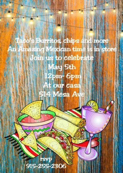 cinco de mayo party invitations new for may 5 2018. Black Bedroom Furniture Sets. Home Design Ideas