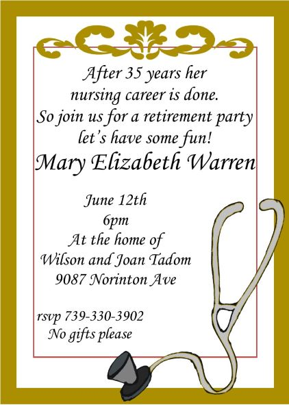 Retirement party invitations custom designed new for fall 2018 nurse retirement party invitations stopboris Gallery