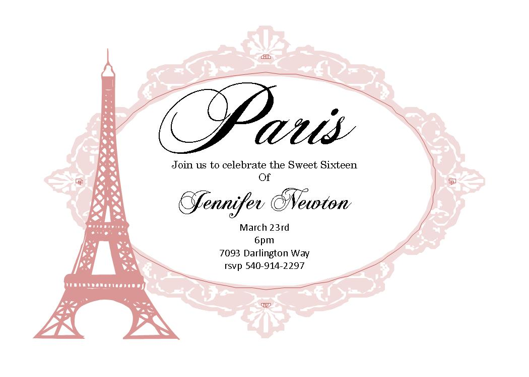 Childs birthday paris france party invitations stopboris Images