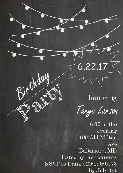 21st Birthday Party invitations NEW selections Winter 2017 – 21st Birthday Invitations Ideas