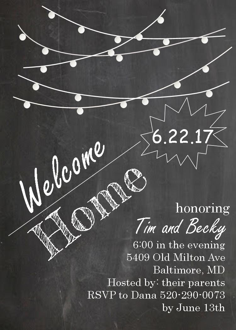 Coming Home Party invitations NEW selections spring 2018