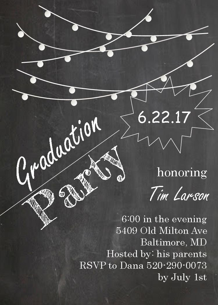 graduation party invitations ~ high school or college graduation, Party invitations