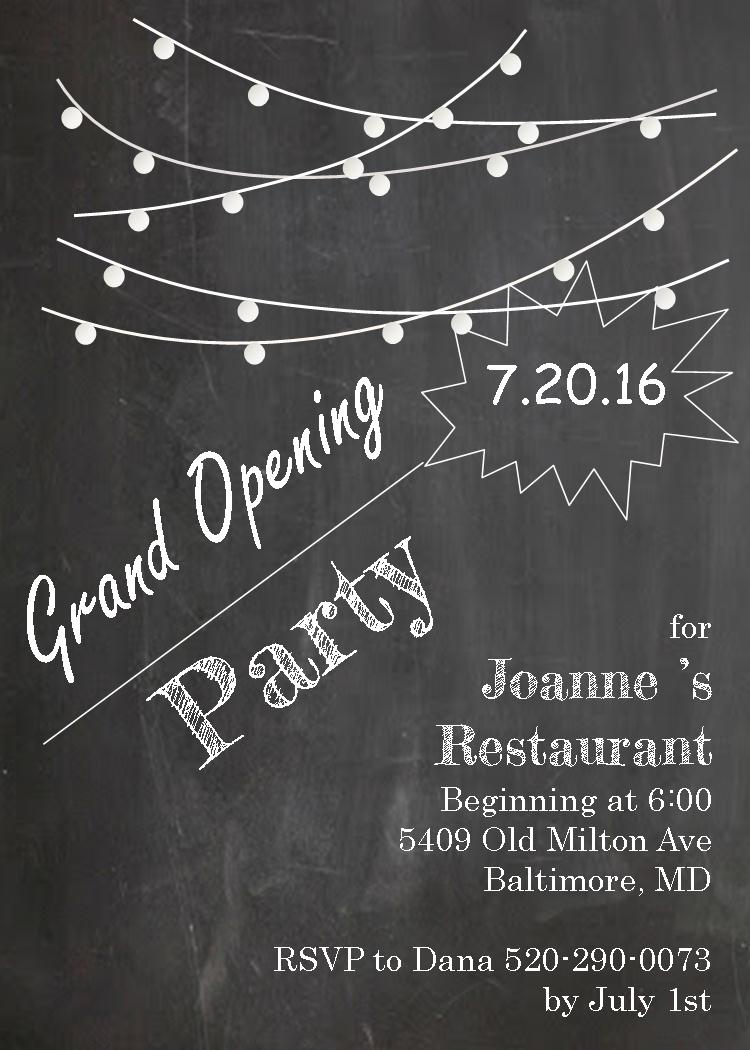 Grand opening invitations and ground breaking invitations new chalkboard grand opening party invitations and ground breaking party invitations stopboris