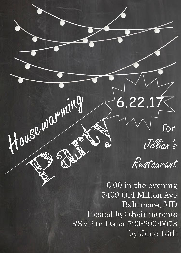 Housewarming Invitations New Selections Fall 2017