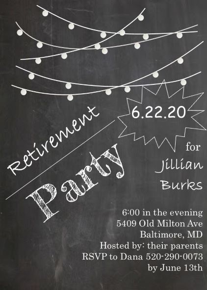 Retirement party invitations custom designed New for Winter 2017