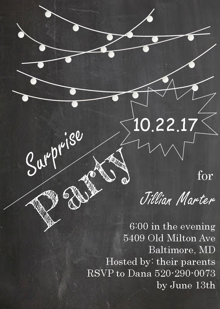 Surprise Party Invitations NEW selections Summer 2018