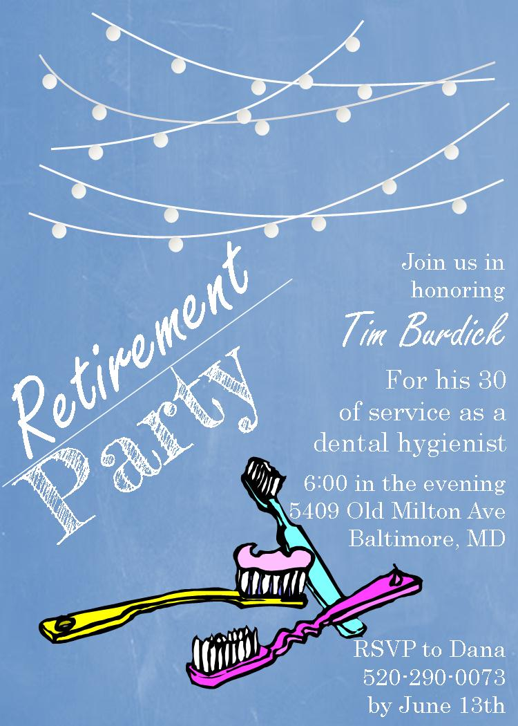 Retirement Party Invitations Peellandfmtk - Party invitation template: free police party invitation templates