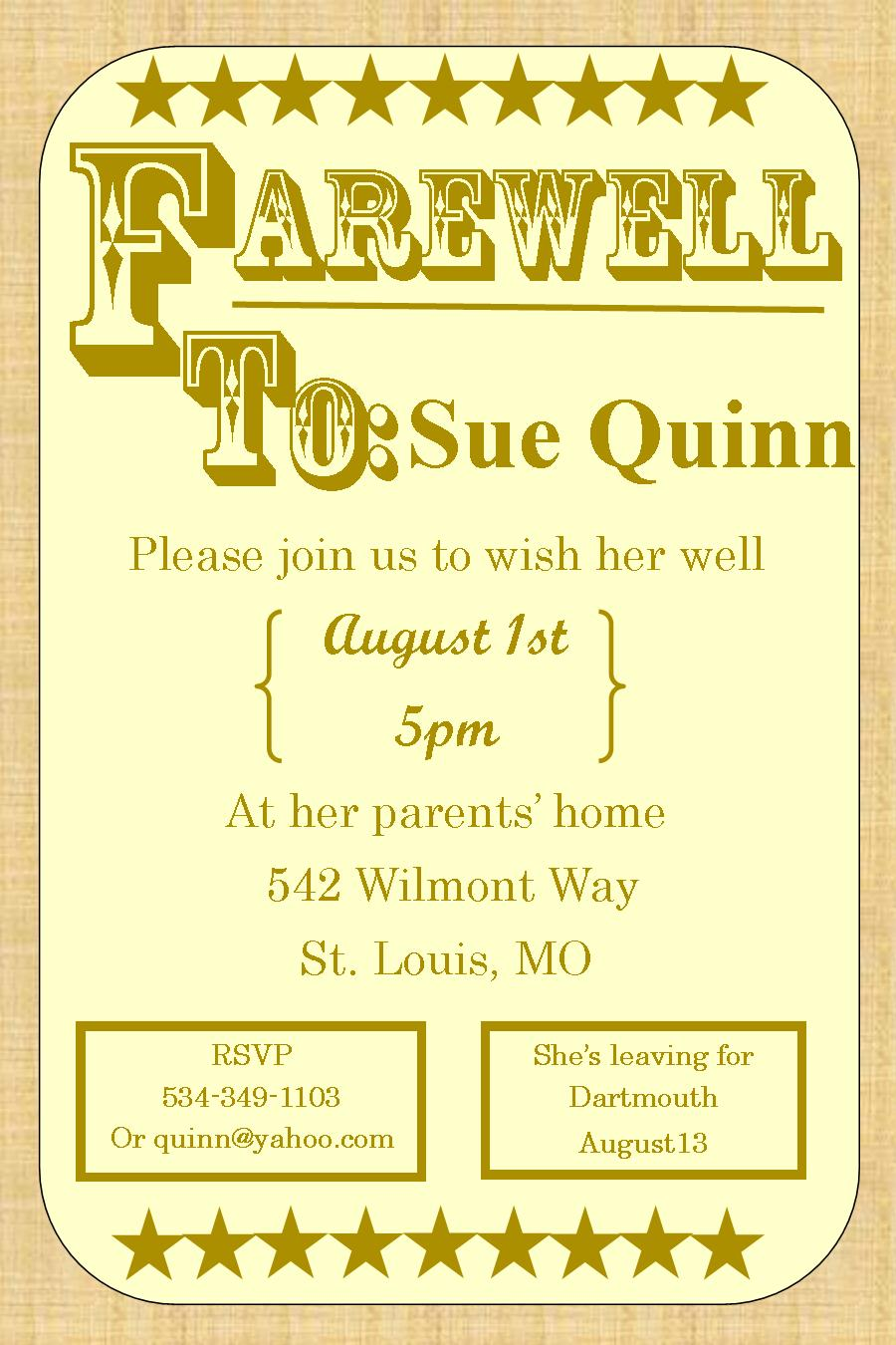 going away party invitation templates – Free Farewell Party Invitation Templates