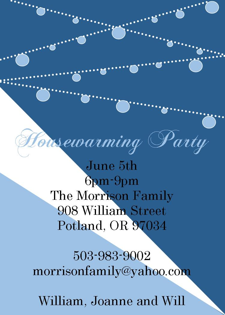 Housewarming Invitations NEW selections spring 2018