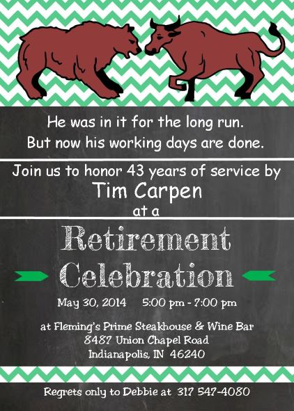 Retirement party invitations custom designed New for winter 2018
