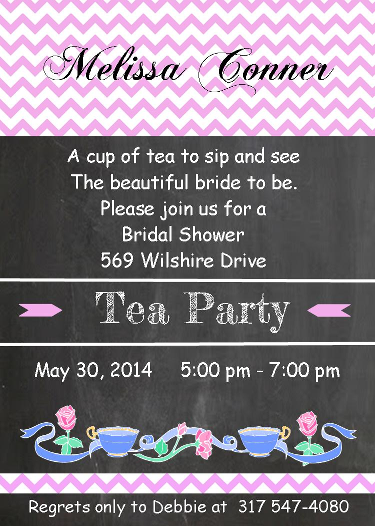 Bridal shower invitations- Around the house, Around the clock ...