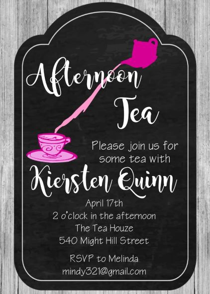 Tea Party Invitations For Children