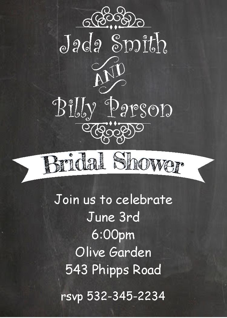 chalkboard engagement party invitations