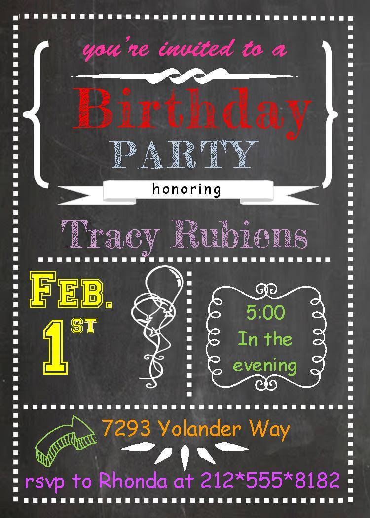 Adult Birthday Party Invitations new selections - NEW selections ...