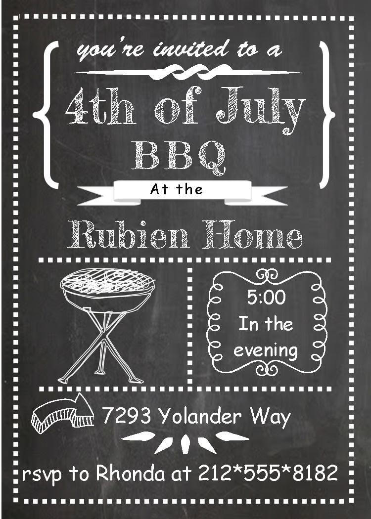 Barbecue Party Invitations Bbq Invitations New Selections Winter 2019