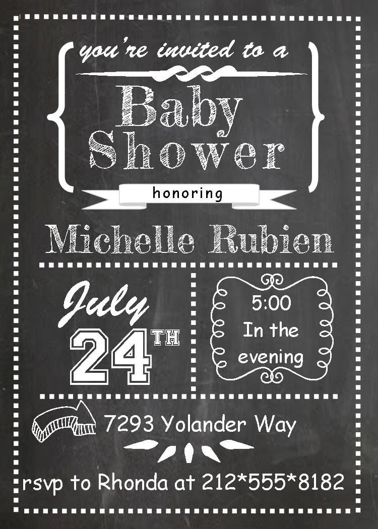 BaByQ Baby Shower Invitations / Fall 2018