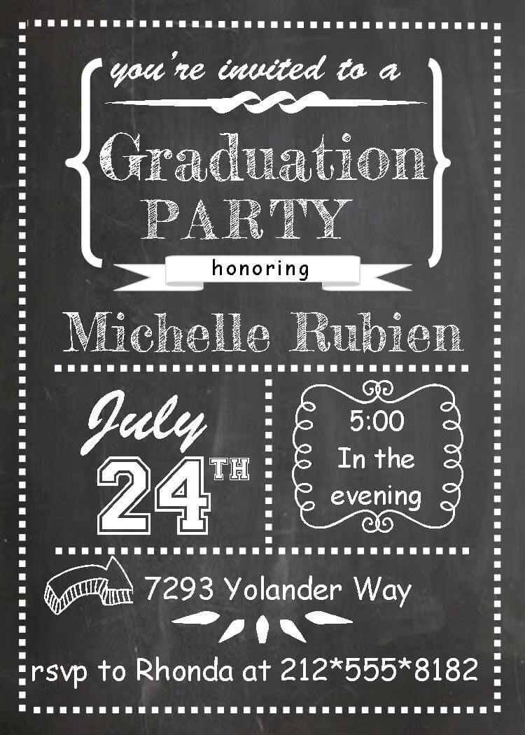 Graduation Party Invitations High school or college Graduation – Graduation Dinner Invitations