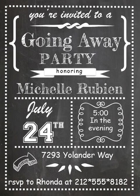 Farewell Party Invitation For Coworker | galleryhip.com - The Hippest ...