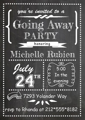 Marvelous Going Away Party Invitations