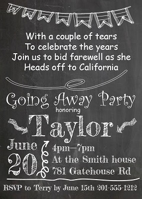 going away party invitations new selections summer, invitation samples