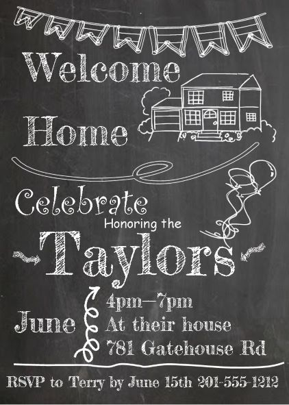 Coming Home Party Invitations New Selections Summer 2019