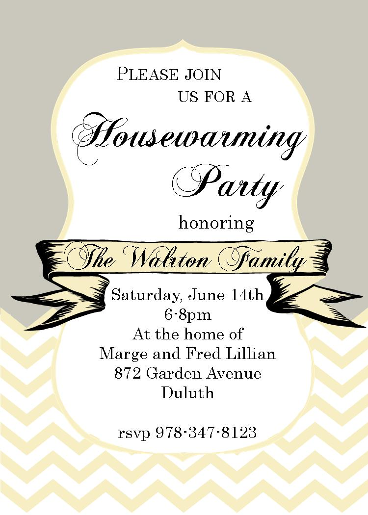 Housewarming invitations new selections winter 2018 chevron and ribbon housewarming party invitations stopboris