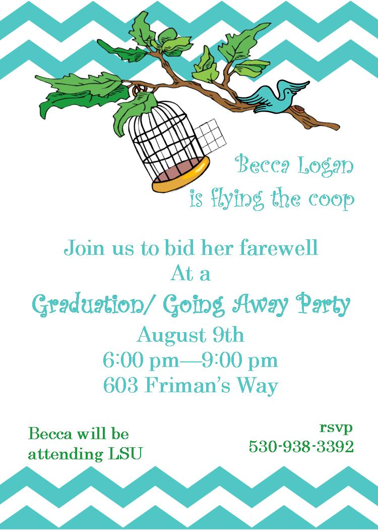 Going Away Party invitations NEW selections spring 2018