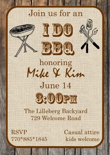 tropical garden and bbq bridal shower invitations new selections, party invitations