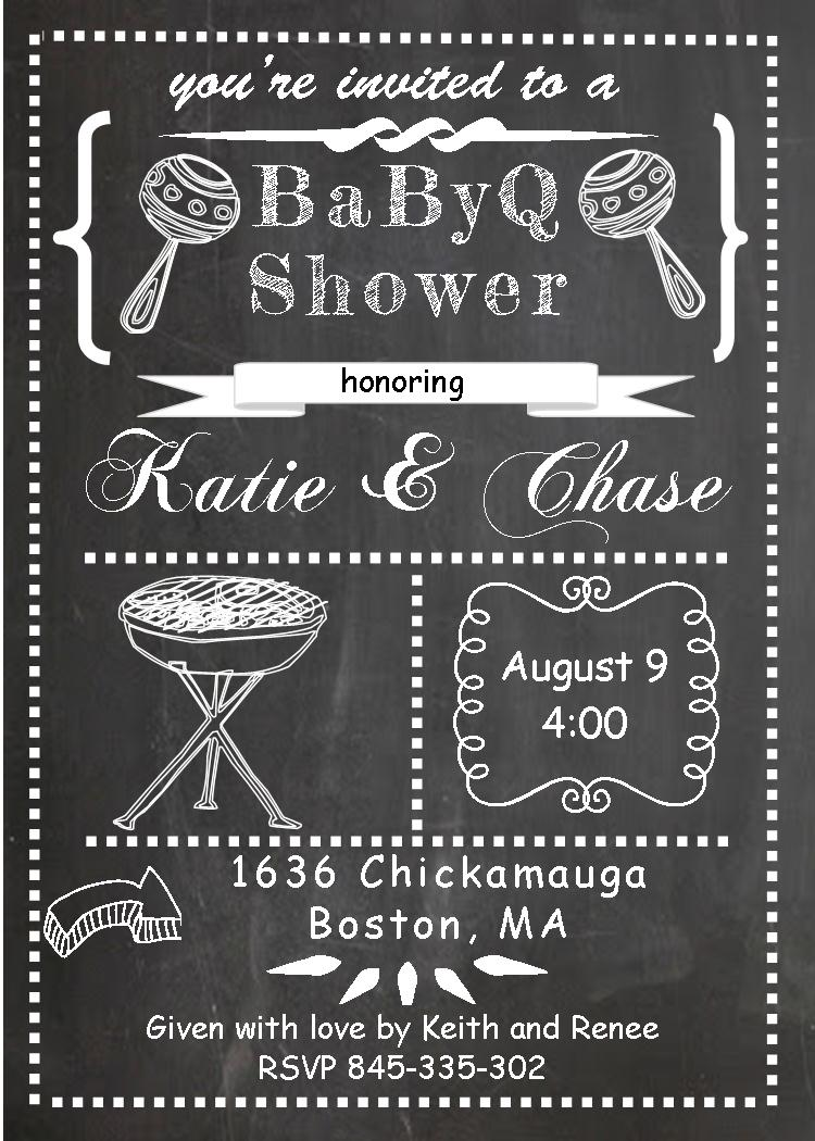 baby q shower invitations