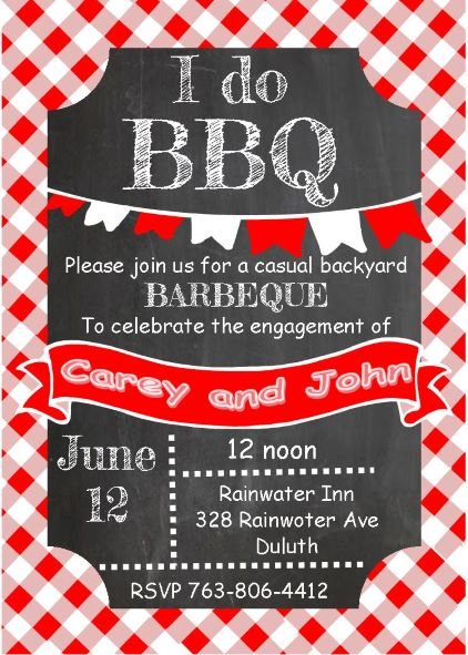 Barbecue Party Invitations- BBQ invitations NEW selections winter 2018