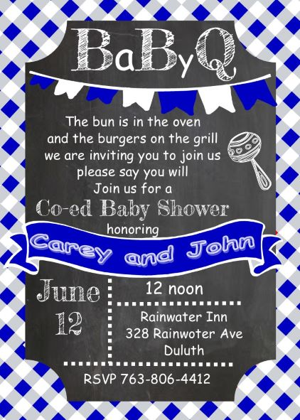 baby boy bbq shower invitations