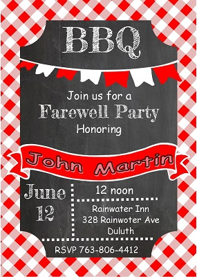 Going Away Party invitations NEW selections Summer 2017
