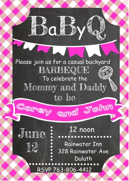BaByQ Baby Shower invitations NEW selections Summer 2017