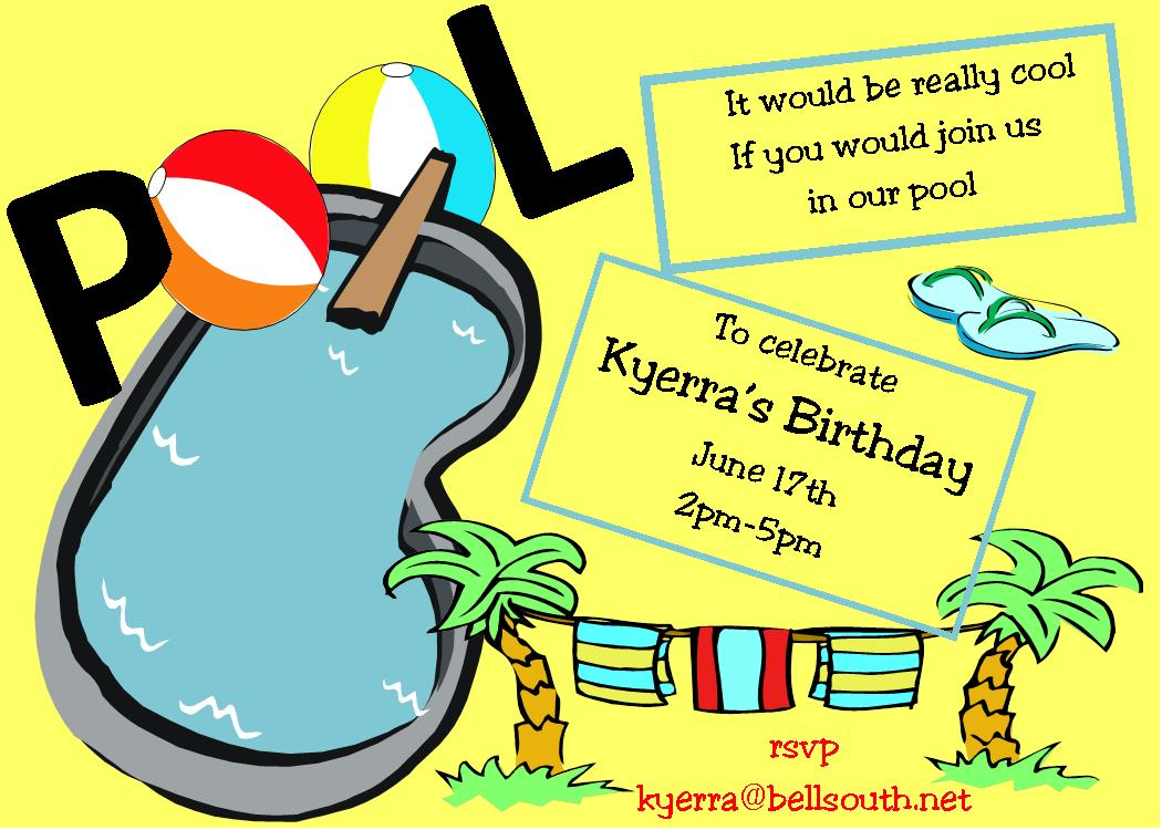 Pool Party Invitations NEW selections Summer 2018