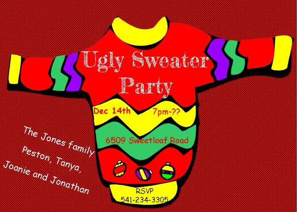 Ugly Sweater Christmas Party Invitations New For 2019
