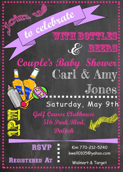 babyq shower invitations