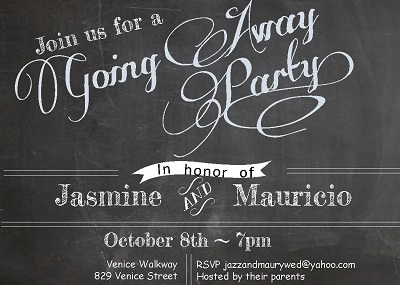 Chalkboard   Going Away Party Invitations