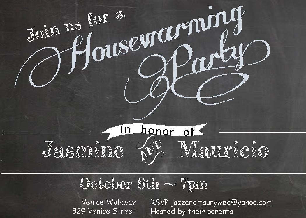 Chalkboard - house warming Party Invitations