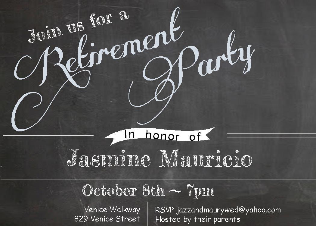Retirement Party Invite – gangcraft.net