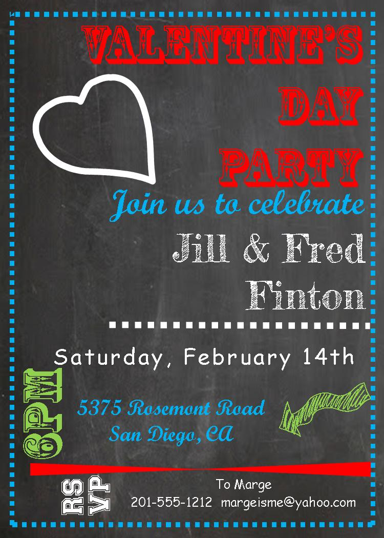 Valentines Day Party Invitations 2017