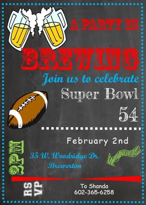 Super Bowl Ticket Template from www.partyinvitations.com