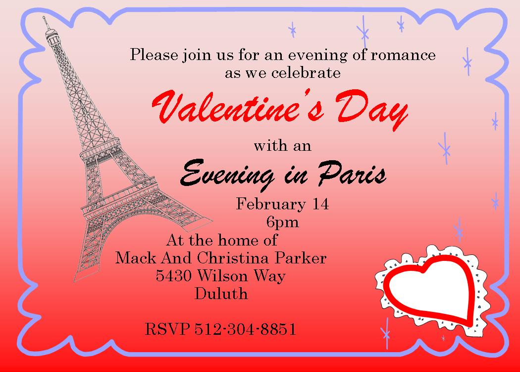 Valentines Party Invitations Geccetackletartsco - Valentine's day invitation template