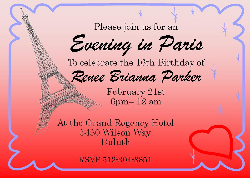 Hotel Party Invitations Choice Image Party Invitations Ideas - Invitation in french to birthday party