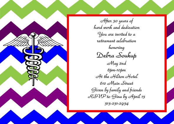 Retirement party invitations custom designed new for fall 2018 nurse retirement party invitations stopboris