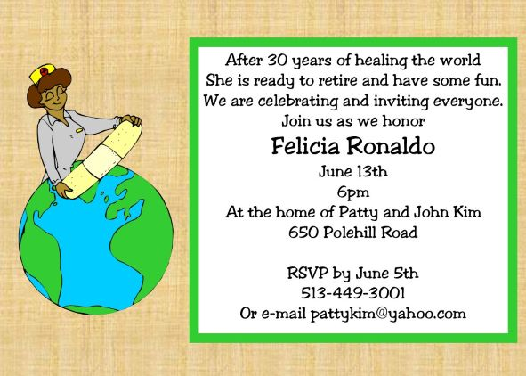 Retirement party invitations custom designed New for ...