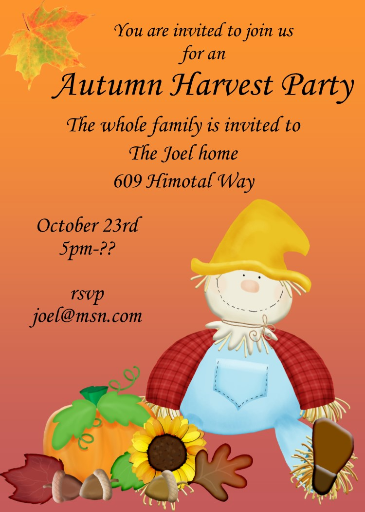 Fall and Autumn Party Invitations 2017 – Fall Party Invitation Wording